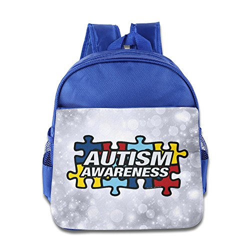 Price comparison product image OurLove Autism Awareness Kid Bookbag Backpack Outdoor Size Size Key RoyalBlue