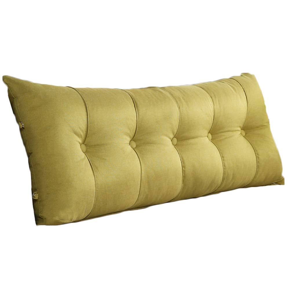 WENZHE Upholstered Headboard Bedside Cushion Wedges Backrest Waist Pad Cover Bed Wedges Backrest Waist Pad Rectangle Washable Cloth Soft Case Home Multifunction Backrest, 6 Colors