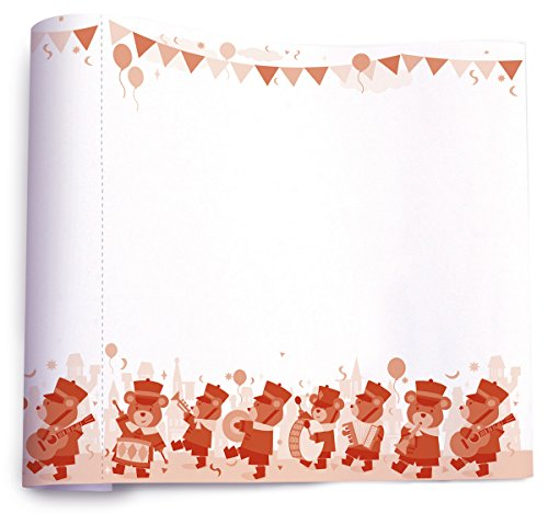 The Piggy Story 'The Bear March' Create & Doodle 35.5 ft Perforated Art Paper Roll