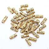 100pcs Tibetan Gold Column Shaped Design Spacer Beads Finding Jewelry Making DIY