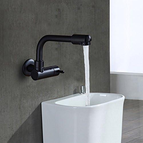 Vinteen Nero singolo freddo grande flusso parete fuori piscina Mop piscina rubinetto rubinetto ordinaria famiglia rubinetto del balcone rubinetto in-parete annerimento ruota retro acqua-rubinetto