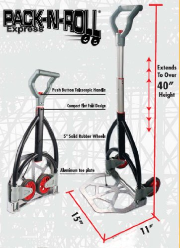 Olympia Tools 85-601 Pack-N-Roll Express Telescoping Hand Truck