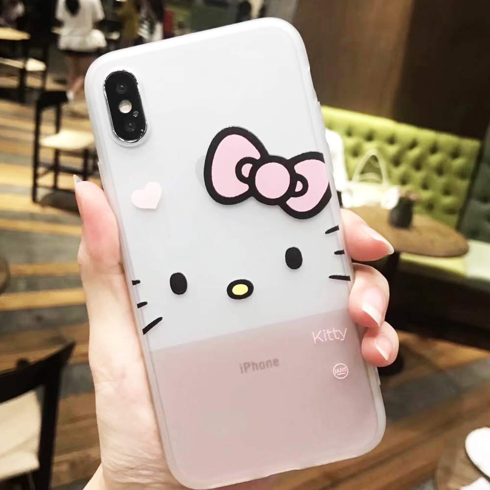 Amazon.com: for iPhone Hello Kitty Silicone Rubber TPU Case ...