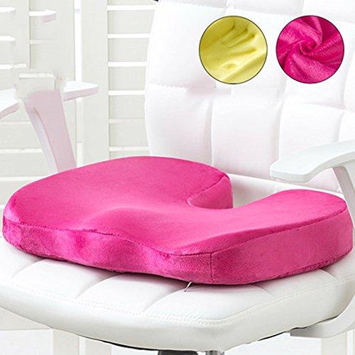 DADAO Car seat Cushion Coccyx Orthopedic seat Cushion Back Pain & Sciatica Relief Ergonomic Memory Foam-C 45x35cm(18x14inch)