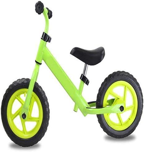 Bicicleta para niños Coche de pista de 12 pulgadas Dos rondas sin pedal Caminando sobre el