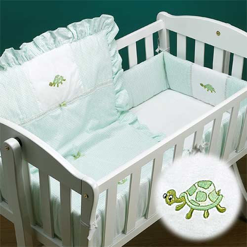 Baby Doll Bedding Gingham Mini Crib/Port-a-Crib Bedding Set,