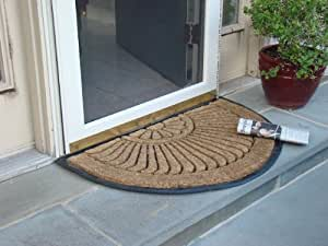Amazon Com Coco Fiber Half Round In Laid Doormat 18 X 30
