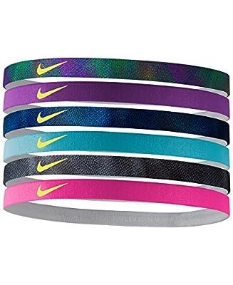Nike Printed Headbands Assorted 6 Pack