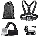 Generic Head Strap Mount+ Chest Belt Strap Harness Mount+Aluminum Thumbscrew+J-Hook for Gopro Hero5 Session Action Waterproof Cam for Climing Cycling Camping Climbing