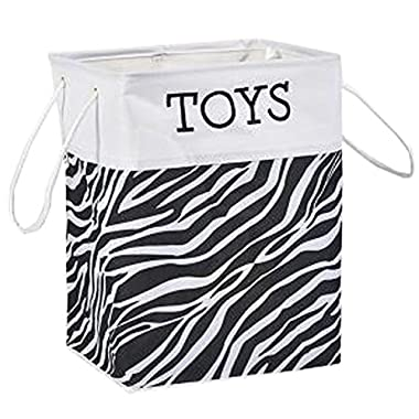 Clothes Basket Laundry Basket Clothing Storage Barrels Toy Organiger White-Black