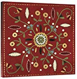 Global Gallery Anne Tavoletti 'Festive Tiles IV Red Wal-Pillow' Giclee Stretched Canvas Artwork, 36 x 36''