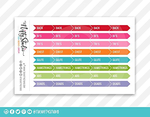 Planner Stickers Workout Exercise Fitness | The Nifty Studio | Stickers for Planners | Stickers for Agendas