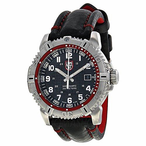 Luminox Luminox Mariner Negro Dial Negro Cuero Mens Reloj 6265