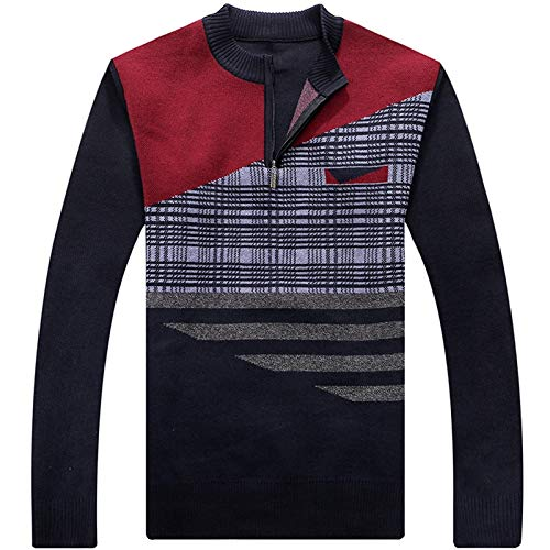FEIDAO Männer Pullover Plaid Pull Herren Pullover Pullover Beiläufige Dünne Männliche Pullover Pullover Schlank Fit Männer Kleidung Jersey Switter Mann