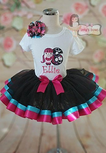 Monster High Birthday Outfit, Monster High outfit, Monster High tutu, Monster High Birthday Set -