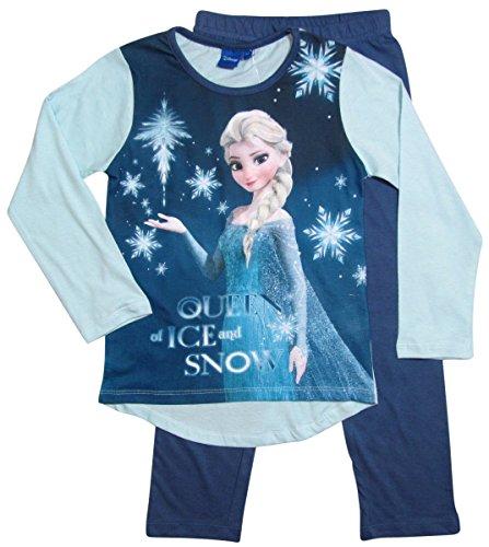 Frozen Pyjama Kollektion 2016 Die Eiskönigin 98 104 110 116 122 128 Schlafanzug Völlig Unverfroren Mädchen Lang Elsa Neu Blau (104 - 110; Prime, Blau)