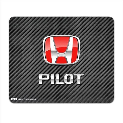 honda-pilot-red-logo-carber-fiber-look-computer-mouse-pad