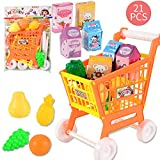 Shopping Cart Fruit and Vegetables Pretend to