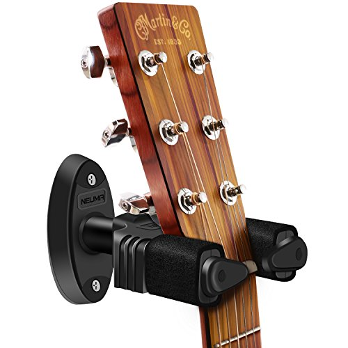 NEUMA Guitar Hanger Auto Lock Wall Mount Display Hook Holder Guitar Stand Fits All Size - Nylon Stand Guitar