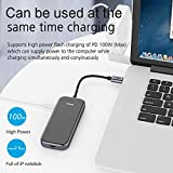 USB C HUB Adapter, QGeeM 5-in-1 USB C Dongle with