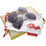Best grinderPUNCH Sunglasses For Men - grinderPUNCH American Flag Sunglasses Aviator 2 Gold Gift Review