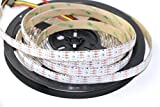 Rongda Smart Home APA102 60 LEDs Pixels Addressable RGB LED Strip Magic Color Light DC5V IP65 (White PCB)