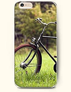 SevenArc New Apple iPhone 6 ( 4.7 Inches) Hard Case Cover - Classic Bike on the Grassland