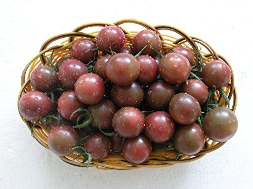 (Futaba Purple Jade Pearl Purple Cherry Tomatoes Rare Non-transgenic Cherry Tomatoes 200 Seeds)