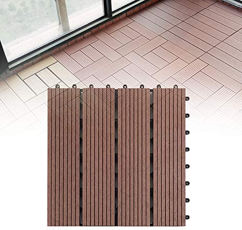 Yangxue DIY Spleißen 30 x 30 cm Garten Balkon Boden Terrassendielen Anti-Korrosion Terrasse Schokolade Farbe 300 x 300 x 22 mm, nicht null, schokoladenbraun, 300*300*22 mm