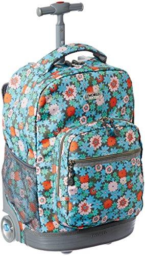 2017 Back-to-School Popular Backpacks Teens & Tweens - J World New York Sunrise Rolling Backpack, Blossom