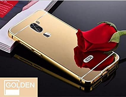 new style 30700 e6aac D-kandy Luxury Metal Bumper + Acrylic Mirror Back Cover Case For COOLPAD  COOL 1 - GOLD