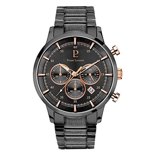 Men's Watch Pierre Lannier - 244F489 - ELEGANCE CHRONO - Chronograph - Date - Deep Grey