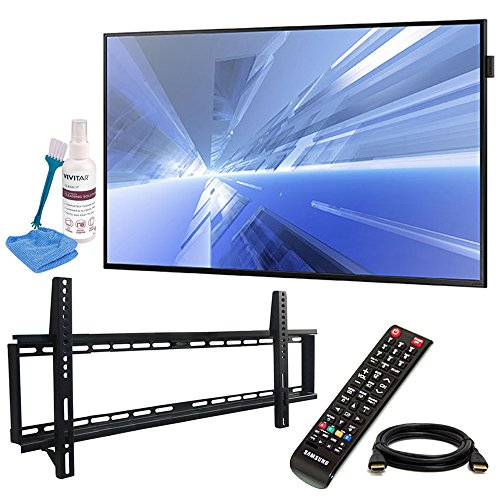 Samsung (DB40E) 40'' Slim Direct-Lit LED Display for Business with Pro Wall Mount Kit, 6ft HDMI Cable, and Cleaning Kit by Beach Camera