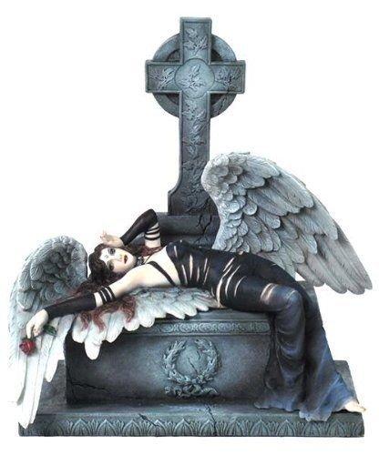 Veronese (ヴェロネーゼ) 横たわるダークエンジェル 天使 墓 ゴシック フィギュア 置物 B071Z93PBZ