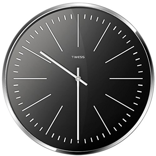 - Home Wall Clock Nordic Simple Metal Frame Pointer Quartz Clock, A Circular One-Sided Living Bedroom Clock, Accurate Time, Continuous Scanning Mute Mute