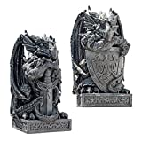 Design Toscano The Arthurian Dragon Statues: Set of Sword and Shield
