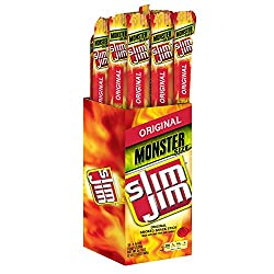 Slim Jim Monster Smoked Meat Sticks, Original, 1.94-ounce, Pack Of 18