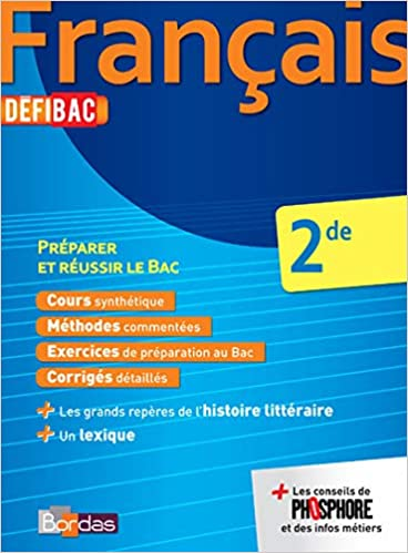Amazon Fr Defibac Cours Methodes Exos Francais 2de