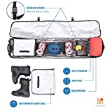EQ SPORT Padded Snowboard Bag with Wheels for Air