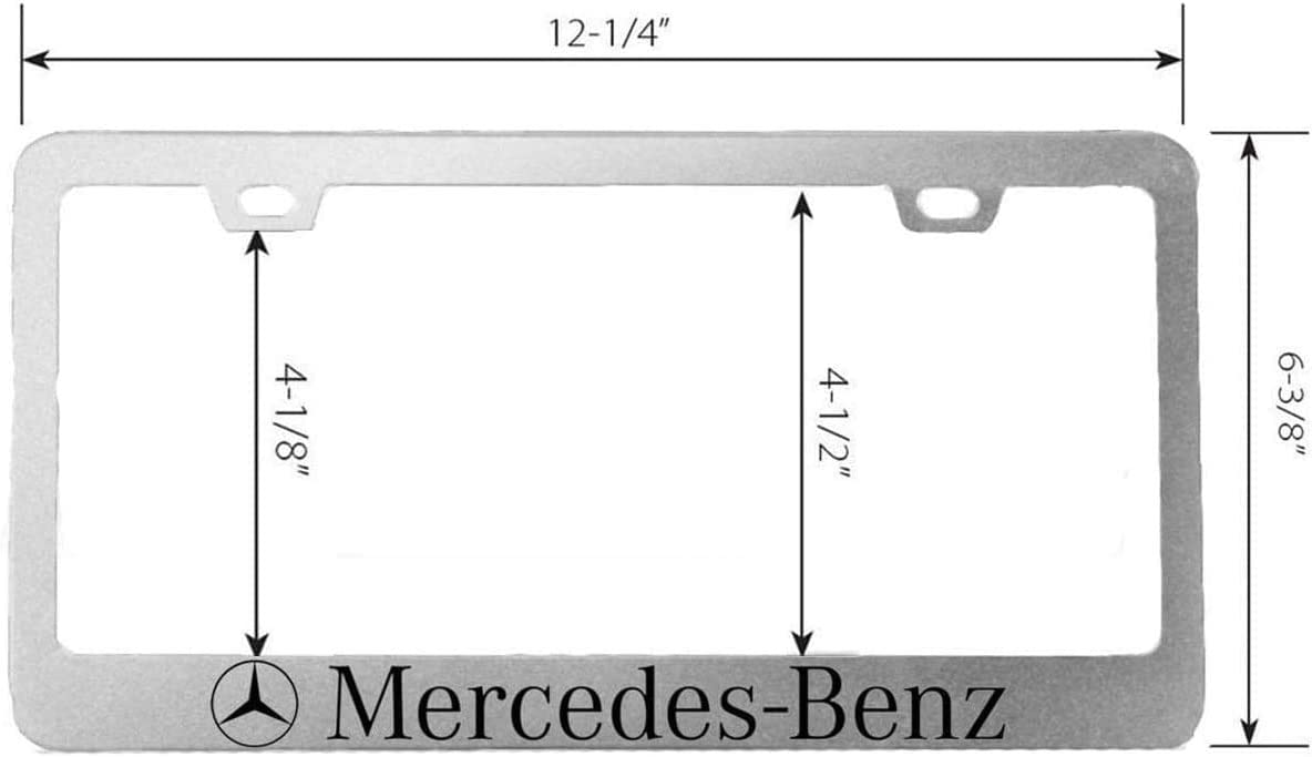 Newest Matte Black Car Licenses Plate Covers Holders for US CA Vehicles 2Pcs Car Logo License Plate Frame for Acura with Black Screw Caps