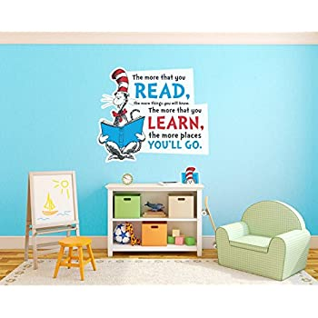 Amazoncom wall dr seuss thing 1 thing 2 character kids for Kitchen colors with white cabinets with dr seuss wall art decor