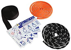 SGT KNOTS Learn the Basics Knot Tying Kit with Waterproof Reference Cards