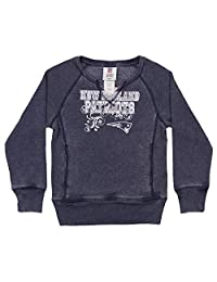 Outerstuff NFL Girls (4-16) Team Color Burnout Long Sleeve Fleece, Team Variation
