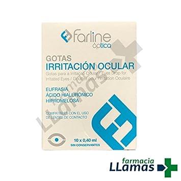 Farline GOTAS IRRITACION OCULAR CON EUFRASIA Y ACIDO HIALURONICO 10 X 0,4: Amazon.es: Salud y cuidado personal