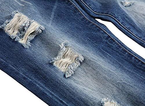 Resistente Huixin Di Skinny Uomini Jeans A Distrutto Gli Sigaretta Pantaloni Blu Svago Denim Strappati UrIPrq