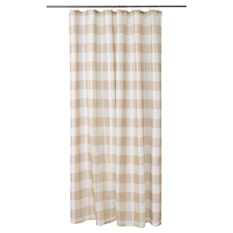 Amazon IKEA ASIA AGGERSUND Shower Curtain Beige White Home