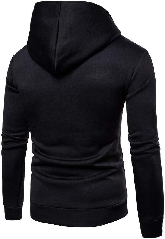 xtsrkbg Mens Long Sleeve Zip up Pocket Pullover Sport Hoodie Sweatshirt