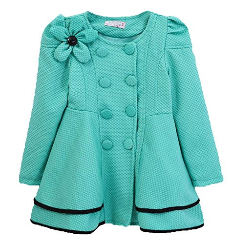 Childs Fashion Flower Double breasted Trench