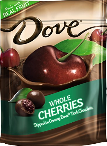 DOVE Fruit Dark Chocolate With Real Cherries 6-Ounce Bag (Pack of 8)