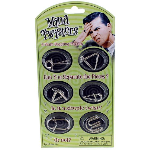 "Mind Twisters 6pk ""Colors & Styles May Vary"""